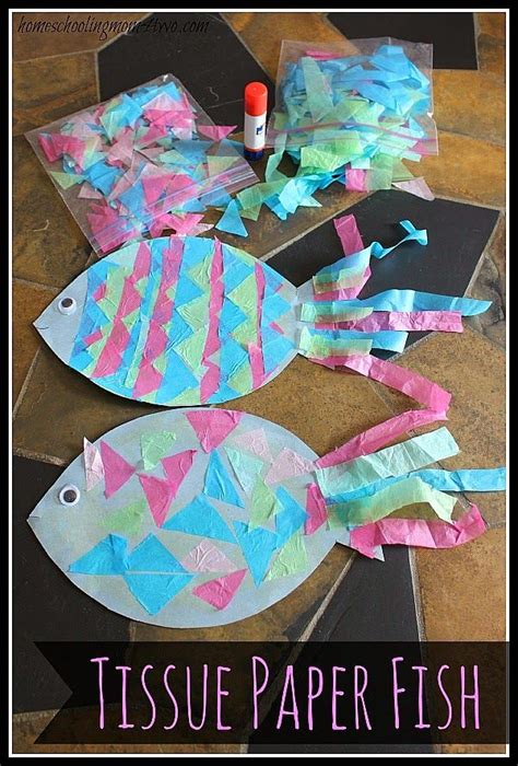 craft construction paper fish with tissue paper 483 | a5418a642198e72bee0eef2cef5ce687