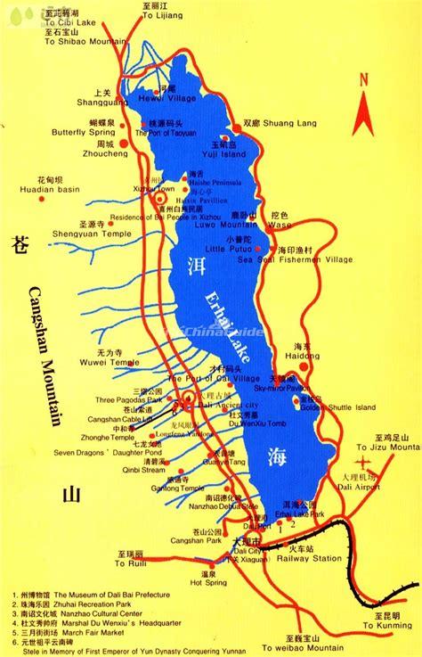 dali tourist map maps  dali