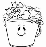 Bucket Coloring Pages Stars Filled Sheet Smiling Template Today Printable Beach Colorings Getcolorings Templates Getdrawings Worksheet sketch template