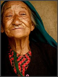 Beautiful Woman Face Old Lady