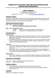 times resume format resume format for part time sle resume format