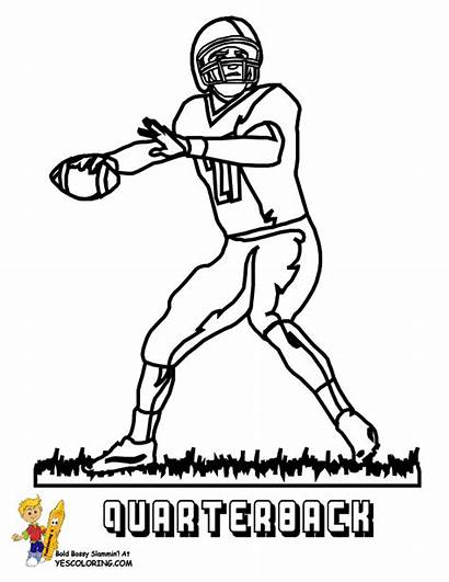 Coloring Football Pages Cowboys Dallas American Yescoloring