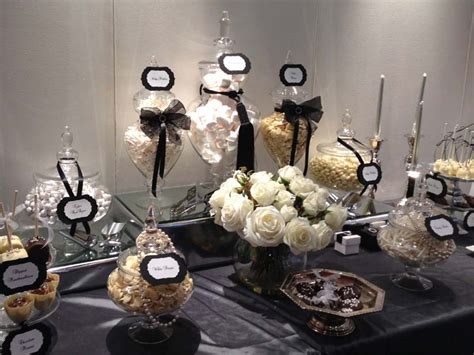 black and white candy table black and white glamour dessert table candy buffets l