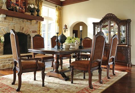 North Shore Double Pedestal Dining Room Set From Ashley. Decor Flooring. Conference Room Projector. Room Deco. Outdoor Decor Landscaping. Contemporary Dining Room Sets. Girl Wall Decor. Lantern Light Fixtures For Dining Room. Window Decorating Ideas