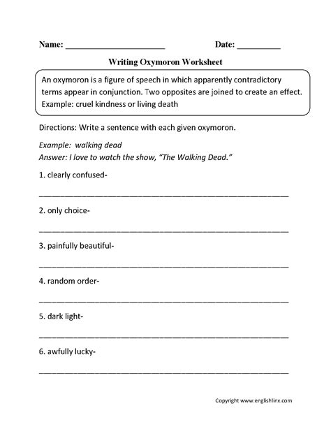 19 Best Images Of 7th Grade Figurative Language Worksheet  Figurative Language Worksheets 5th