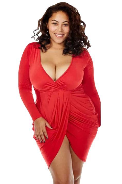 t shirt dresses womens v neck ruched sleeve plus size dress