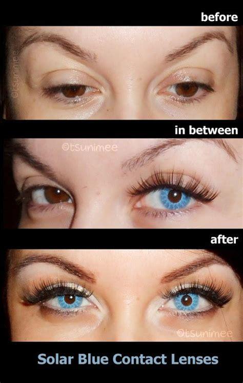 solar blue contact lenses    dark brown