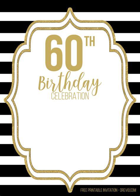 black golden birthday invitation templates