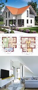 Modernes Haus Grundriss : modernes haus mit satteldach architektur querhaus loggia einfamilienhaus modern grundriss ~ Orissabook.com Haus und Dekorationen