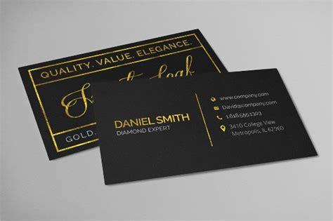 gold foil business cards  psd ai eps format