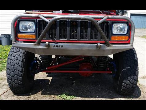 jeep bumper grill front bumper with grille guard cherokee xj and comanche mj