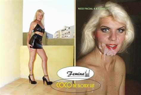 Galería Caption Before After To Coco The Blonde Slut And Whore