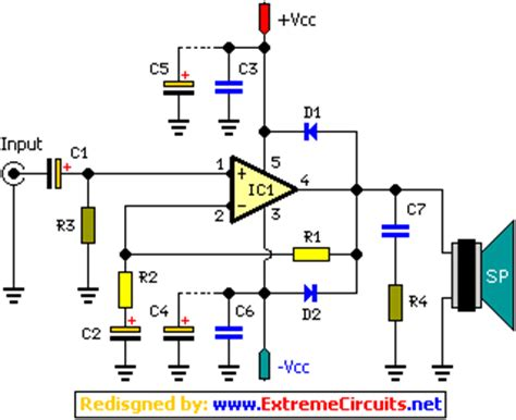 stereo  fi audio amplifier tda circuit