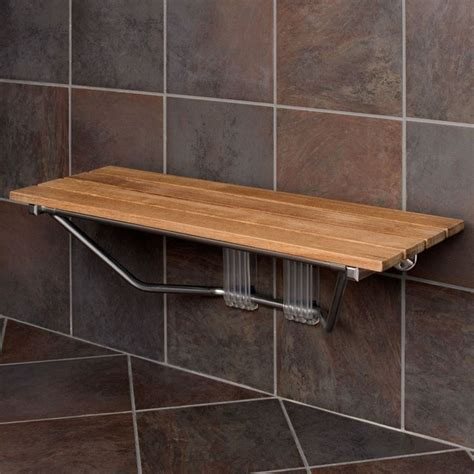 Folding Teak Shower Seat by 36 Quot Folding Teak Shower Seat For The Home Pinterest