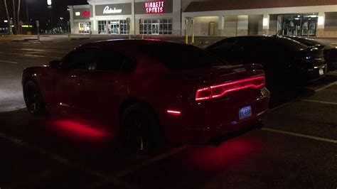 dodge charger  opt pc underglow kit youtube
