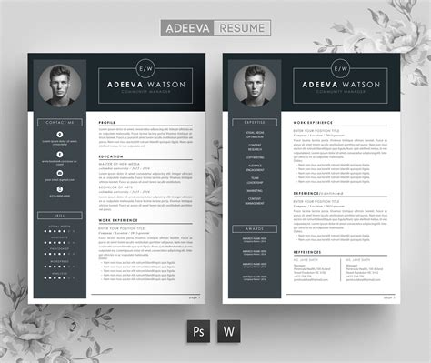 Professional Resume Design Templates by Professional Resume Template Watson Resume Templates