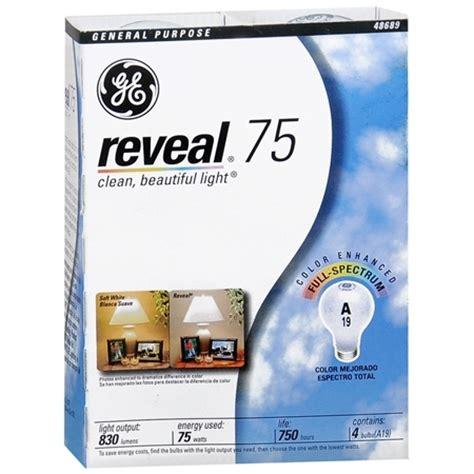 1 19 reg 4 19 ge reveal light bulbs 4 pack at target