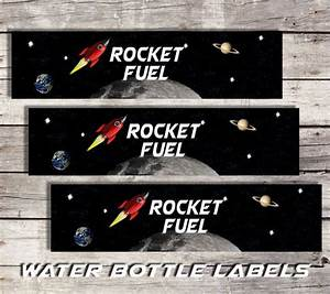 Space Water Bottle Labels Printable Water Bottle Labels