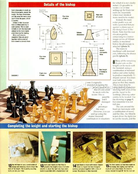 making chess   router woodarchivist