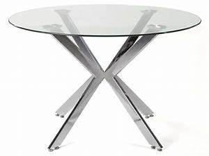 Table Ronde En Verre Conforama : table ronde 120 cm eva vente de table et chaises de jardin conforama ~ Nature-et-papiers.com Idées de Décoration