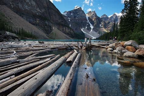 log jam banff national park canada bernard chen