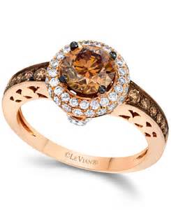 chocolate gold engagement rings le vian chocolate and white engagement ring in 14k gold 1 5 8 ct t w in brown
