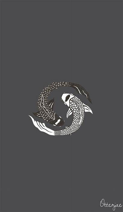 Backgrounds Aesthetic Phone Iphone Koi Wallpapers Drawings
