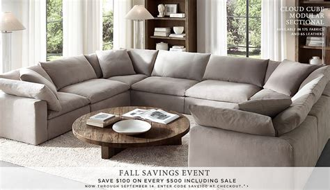 restoration hardware cloud sofa restoration hardware homepage not usually a fan of