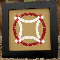 Modern Double Wedding Ring Wall Quilt   FaveQuilts.com