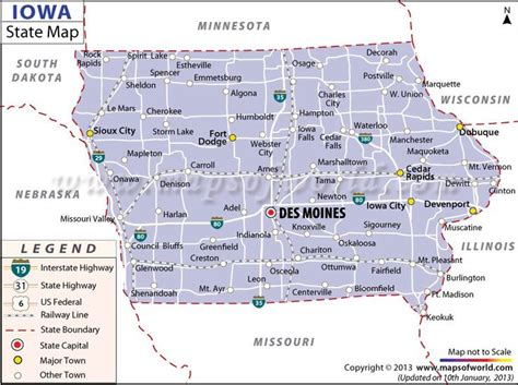 map  iowa  states pinterest