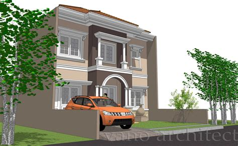 desain rumah klasik eropa  vano architect