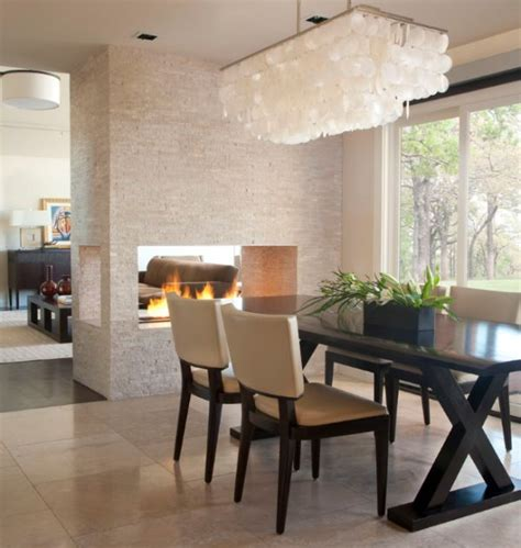 dining room fireplace ideas  romantic winter nights