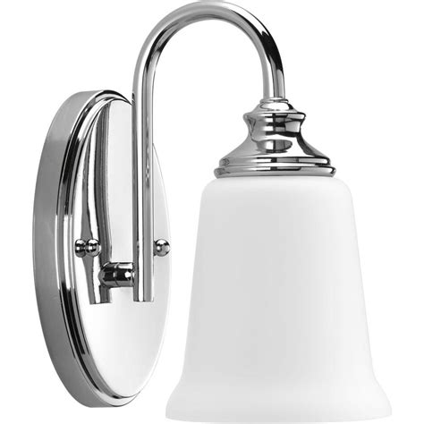 Bathroom Sconces Chrome by Progress Lighting Wander Collection 1 Light Polished