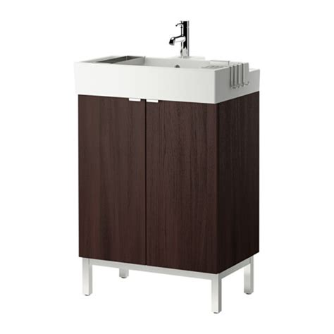 ikea sink cabinet lill 197 ngen sink cabinet with 2 doors black brown 23 5