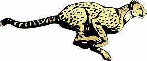 Running Cheetah Clip Art at Clker.com - vector clip art ...