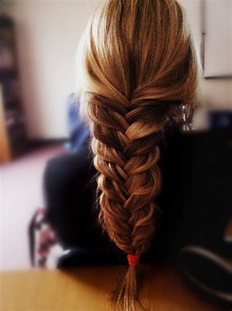 messy pulled  fishtail  pretty wont