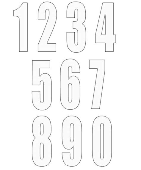 Free Numbers Templates by Free Numbers Templates 2