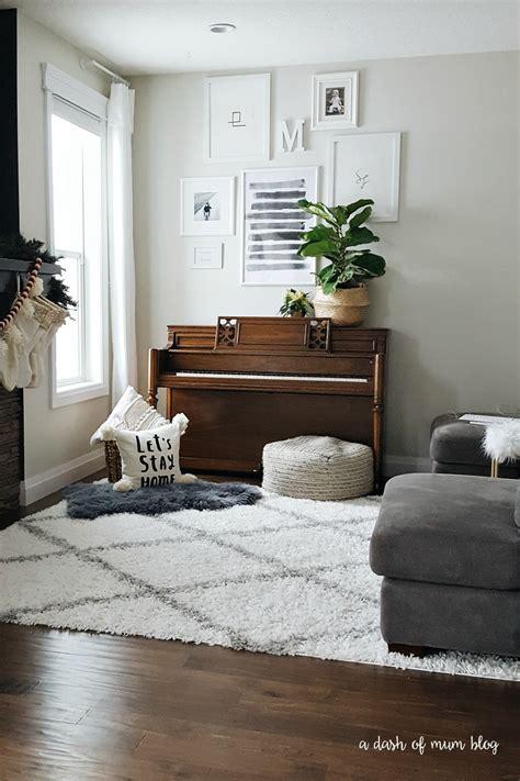 white shag rug   living room   baby toddler