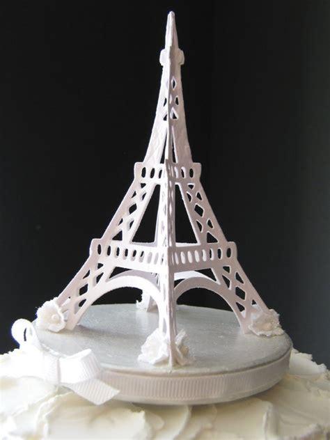 pin eiffel tower wedding cake topper   work