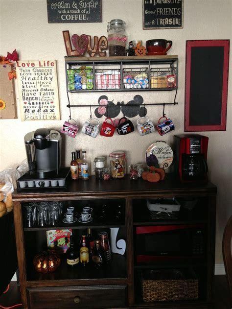 I want to take you through the process of my custom coffee bar makeover and share all. Wine and Coffee Bar Ideas, Coffee Bar Ideas Rustic, Home Bar Decor #CoffeeBarIdeas#HomeBarIdea# ...
