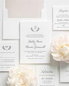 greenery inspired letterpress wedding invitations With costco wedding invitations letterpress