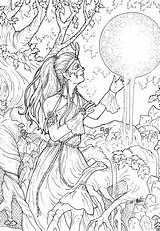 Coloring Complex Adult Colouring Grown Ups Adults Printable Coloriage Called Fairy Moon Million Kickstarter Pagan Adulte Coloriages Dessin Celtic Anime sketch template