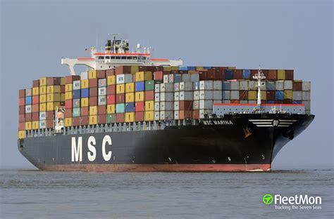 Wie lange es dauert, bis die wichtige wasserstraße wieder frei ist. MSC MARINA (Containerschiff): Schiffsdaten und AIS ...