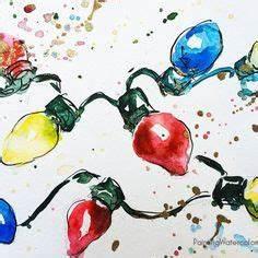 Christmas Card tree watercolor painting tutorial