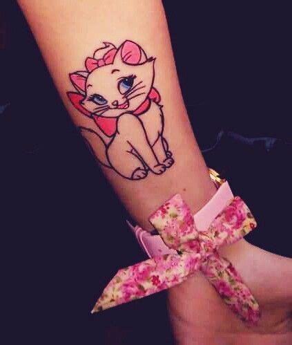 Marie Disney Aristocats Tattoo