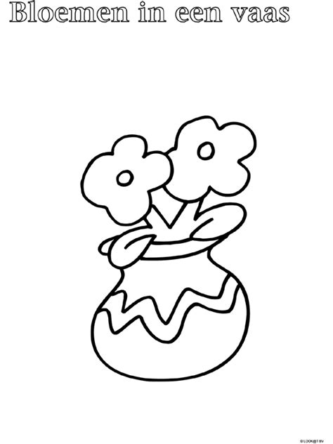 Bloemenvaas Kleurplaat kleurplaat peuter kleurplaat vaas bloemen kleurplaten