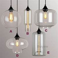 industrial pendant lights MODERN INDUSTRIAL STYLE PENDANT LIGHT GLASS SHADE CEILING ...