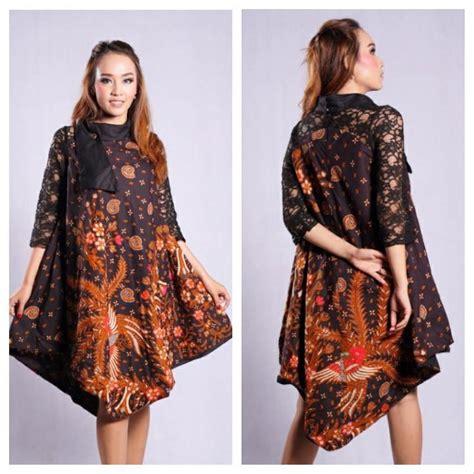 jual dress pesta lengan panjang size  baju batik hitam