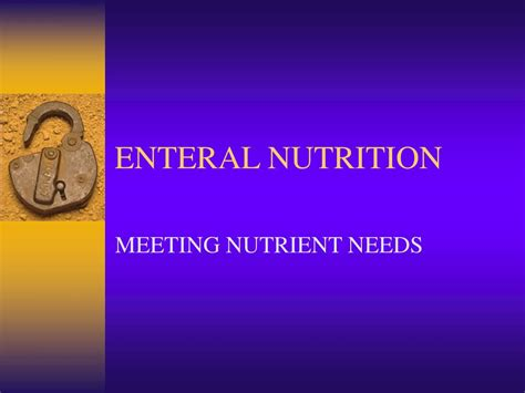 Ppt Enteral Nutrition Powerpoint Presentation Id225635