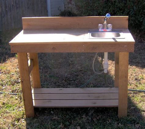 diy outdoor sink station potting bench with sink potting benches with stainless